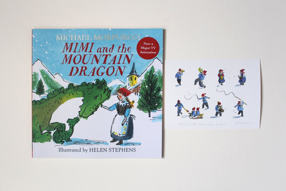 Image of Mimi and the Mountain Dragon book with signed giclée print