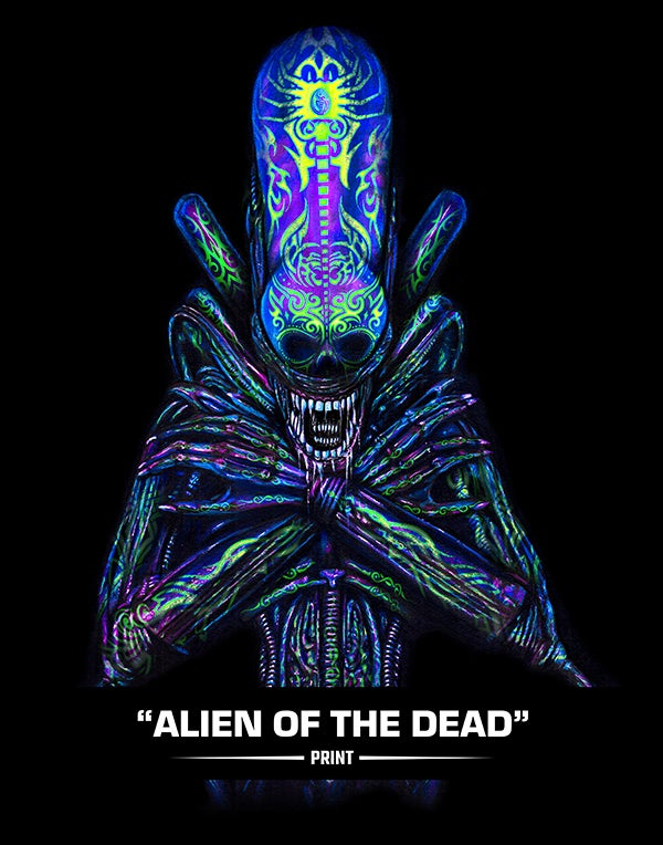 Image of Alien of  the Dead (SUGAR SIN) - Print