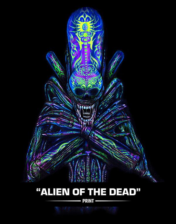 Alien of  the Dead (SUGAR SIN) - Print