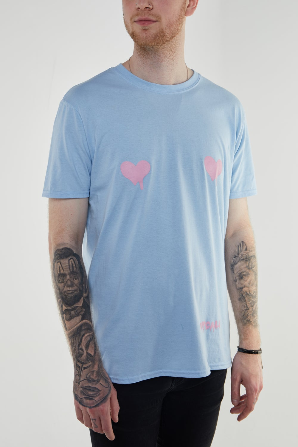 Image of Free The Nips T Shirt BLUE