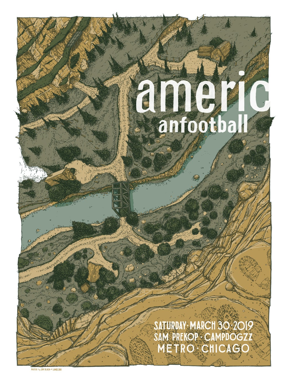 American Football (Chicago • LP3 Release Show) & Related Art Prints