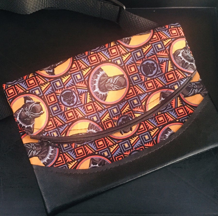 Image of Designs By IvoryB  Fanny Pack-Black Panther
