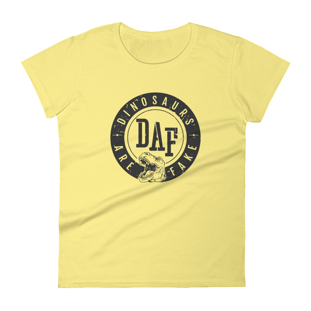 Image of Women's Revolution Badge T-Shirt on Spring Yellow