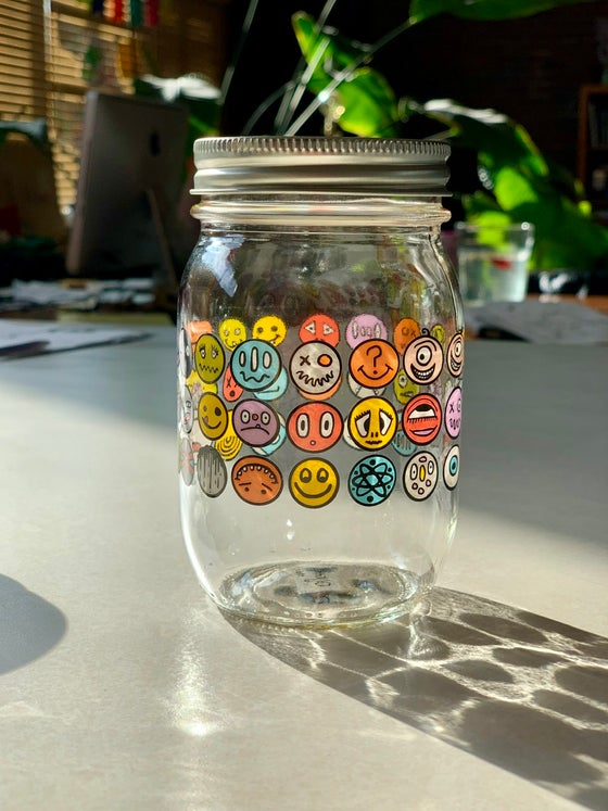Image of HAPPY FACE Ball Jar 16oz.