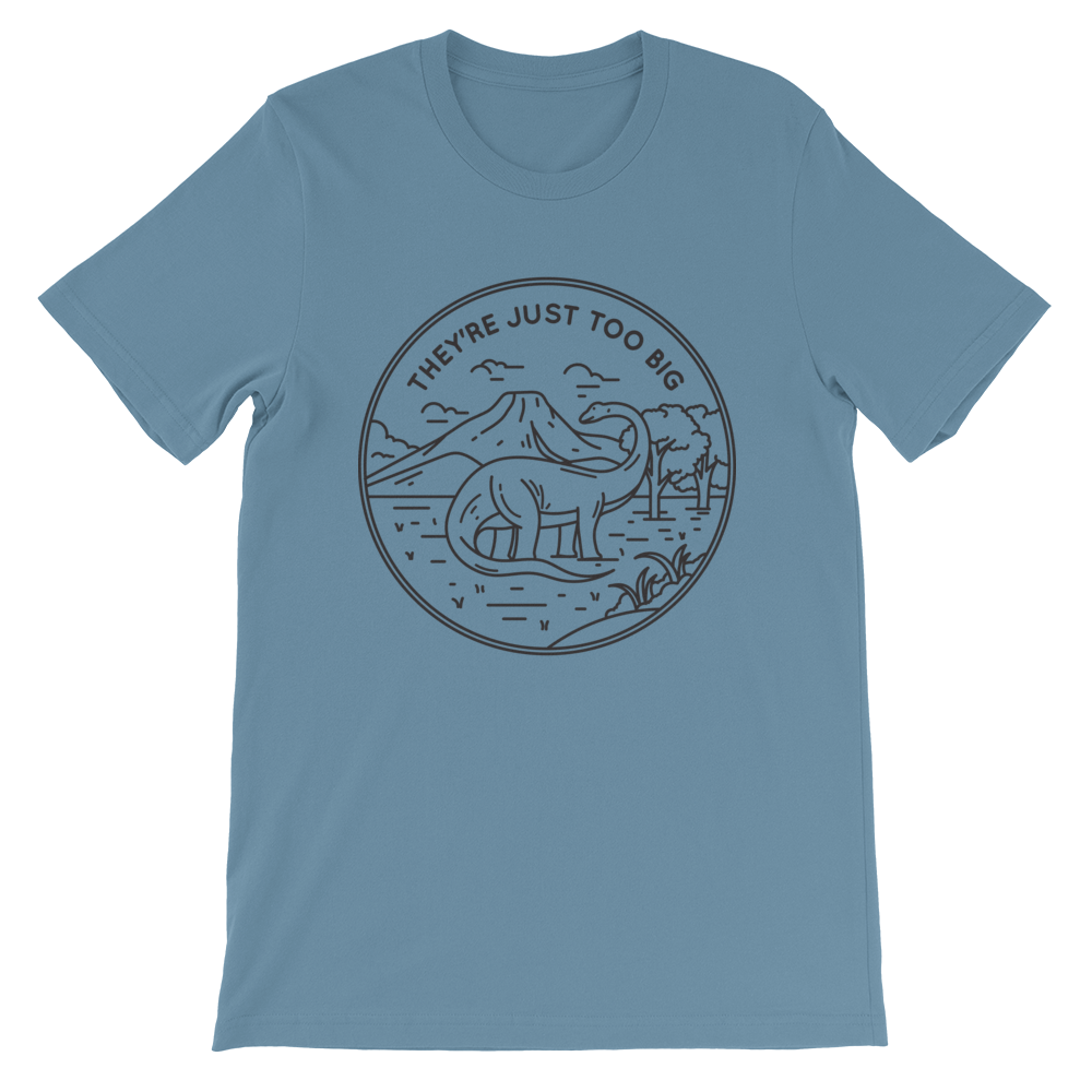 Image of *Too Big* T-Shirt on Steel Blue