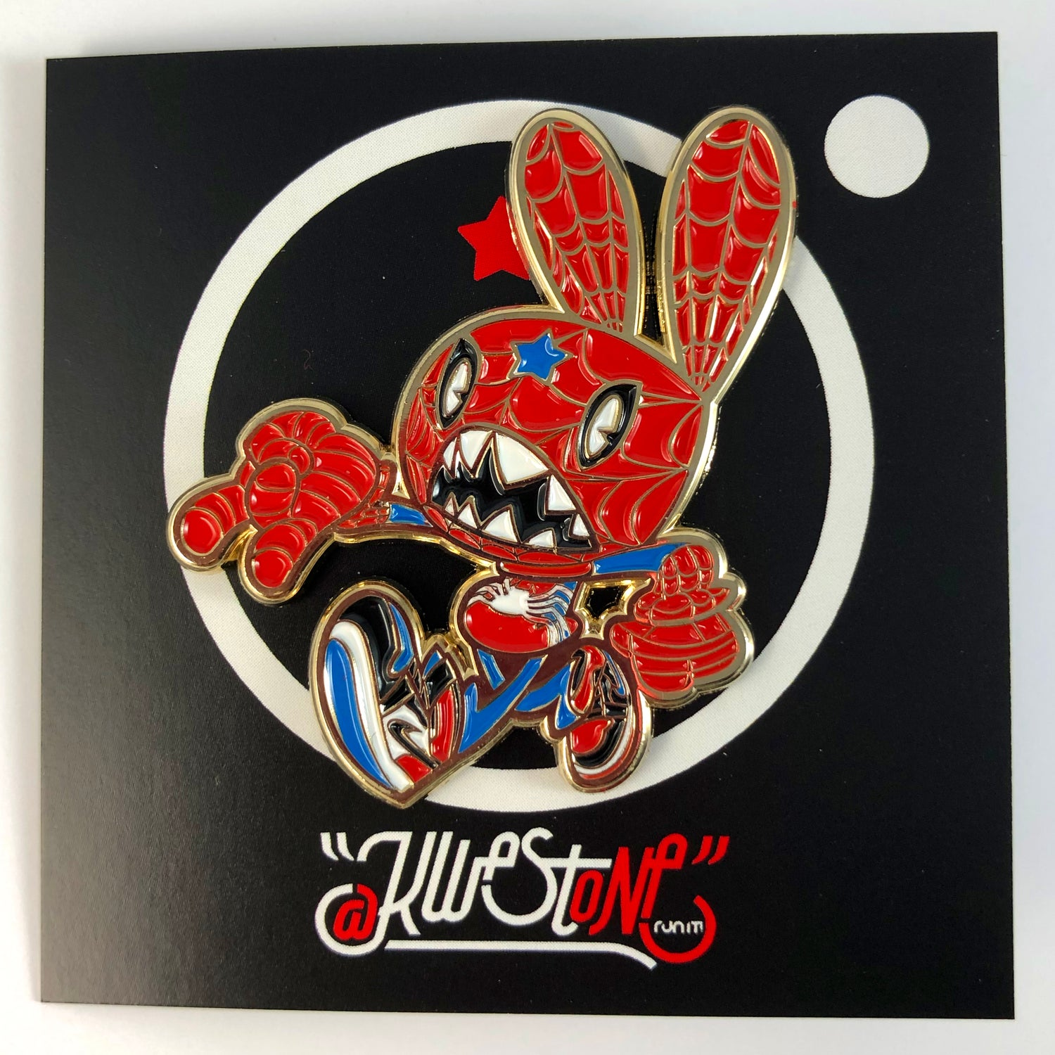 Image of TOP 3 SPIDEY-BUN ENAMEL PIN