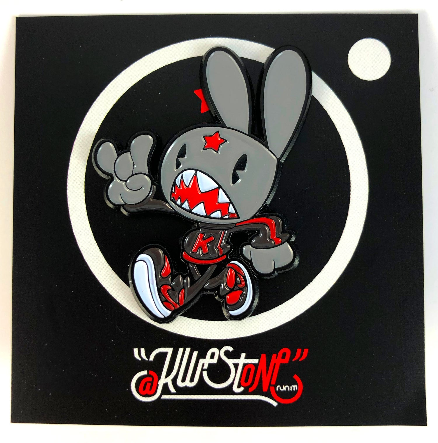 Image of BANNED 1 BUNNY ENAMEL PIN