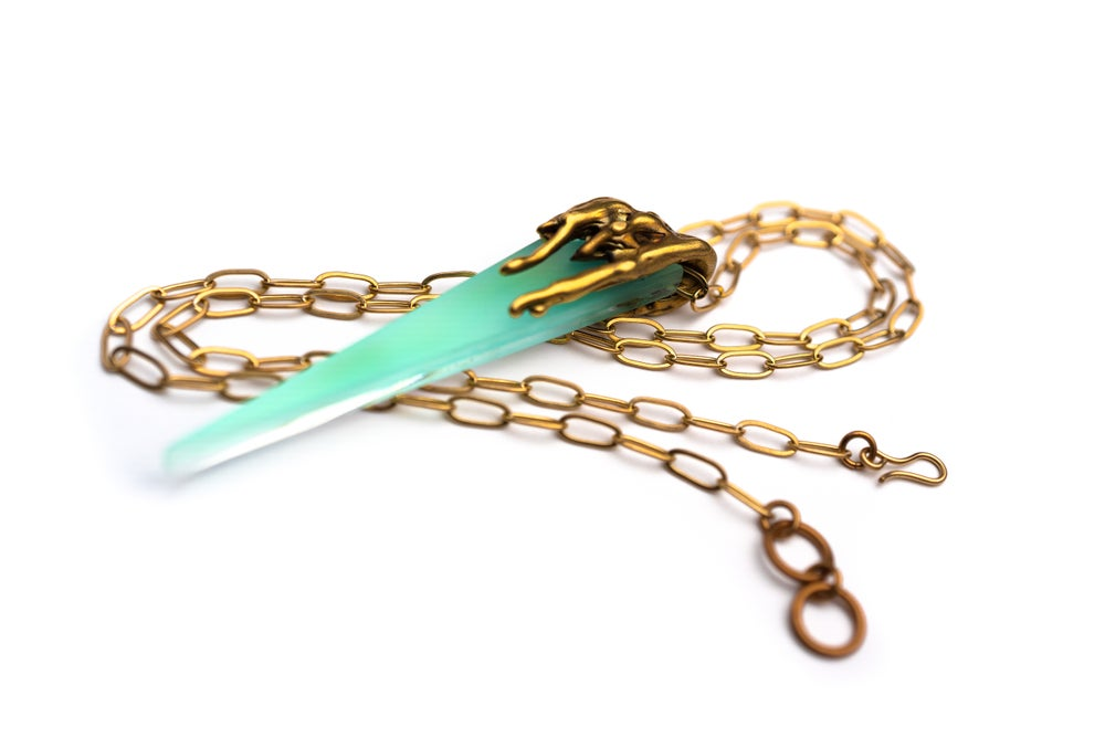 Image of Color Drip Dagger in Iridescent Powder Blue