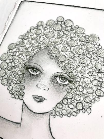 Image of Pearls - Letterpress Print / Original Drawing
