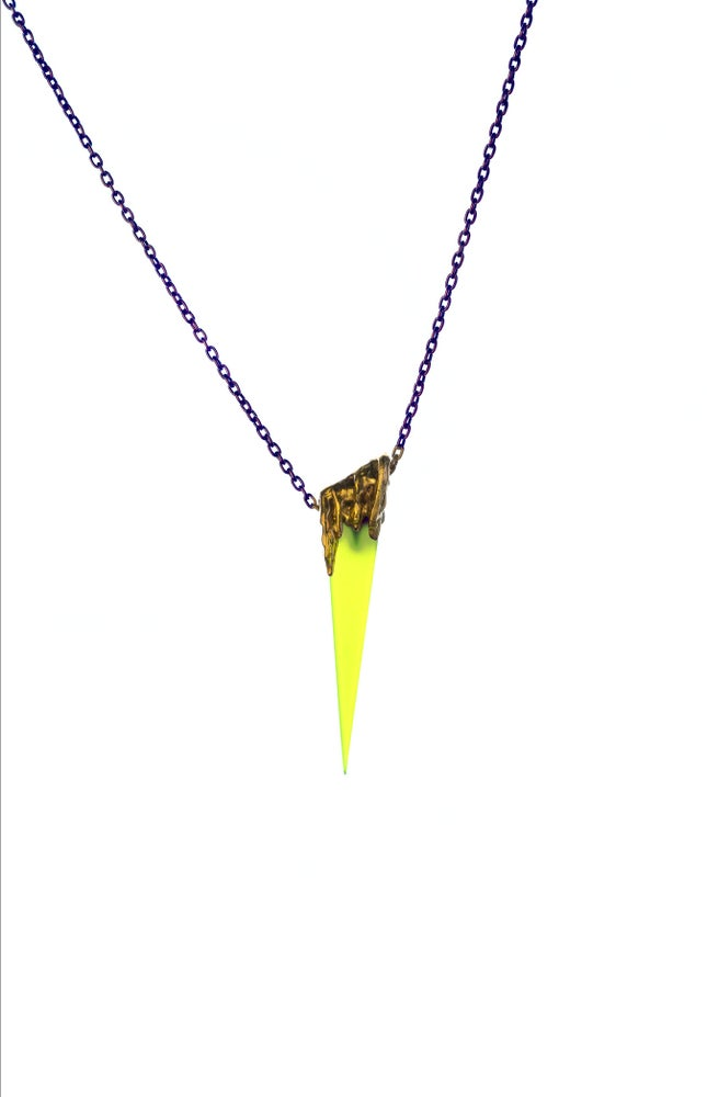 Image of Color Drip Dagger in Neon Green