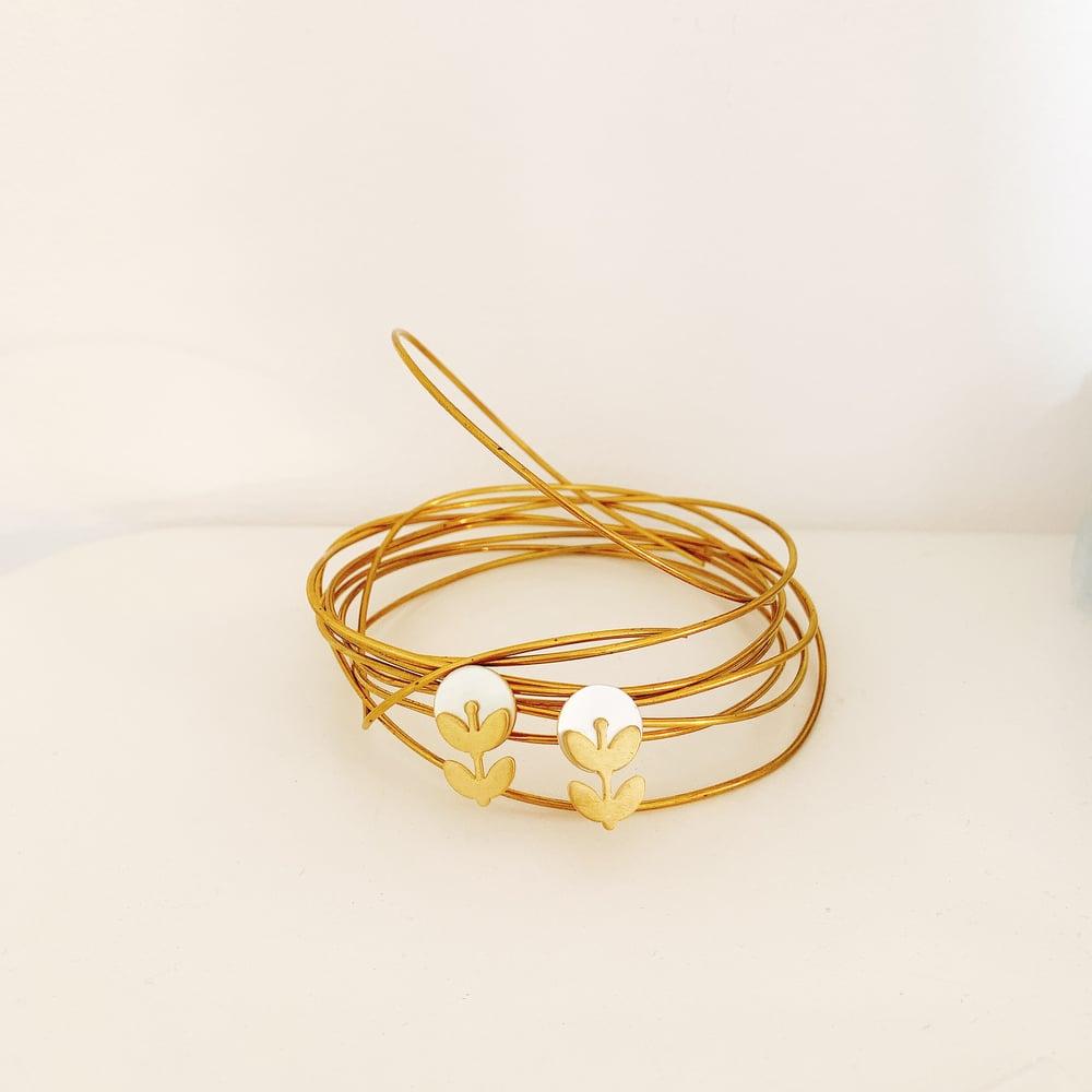 Image of «Boutons d'or» boucles clous d'oreilles