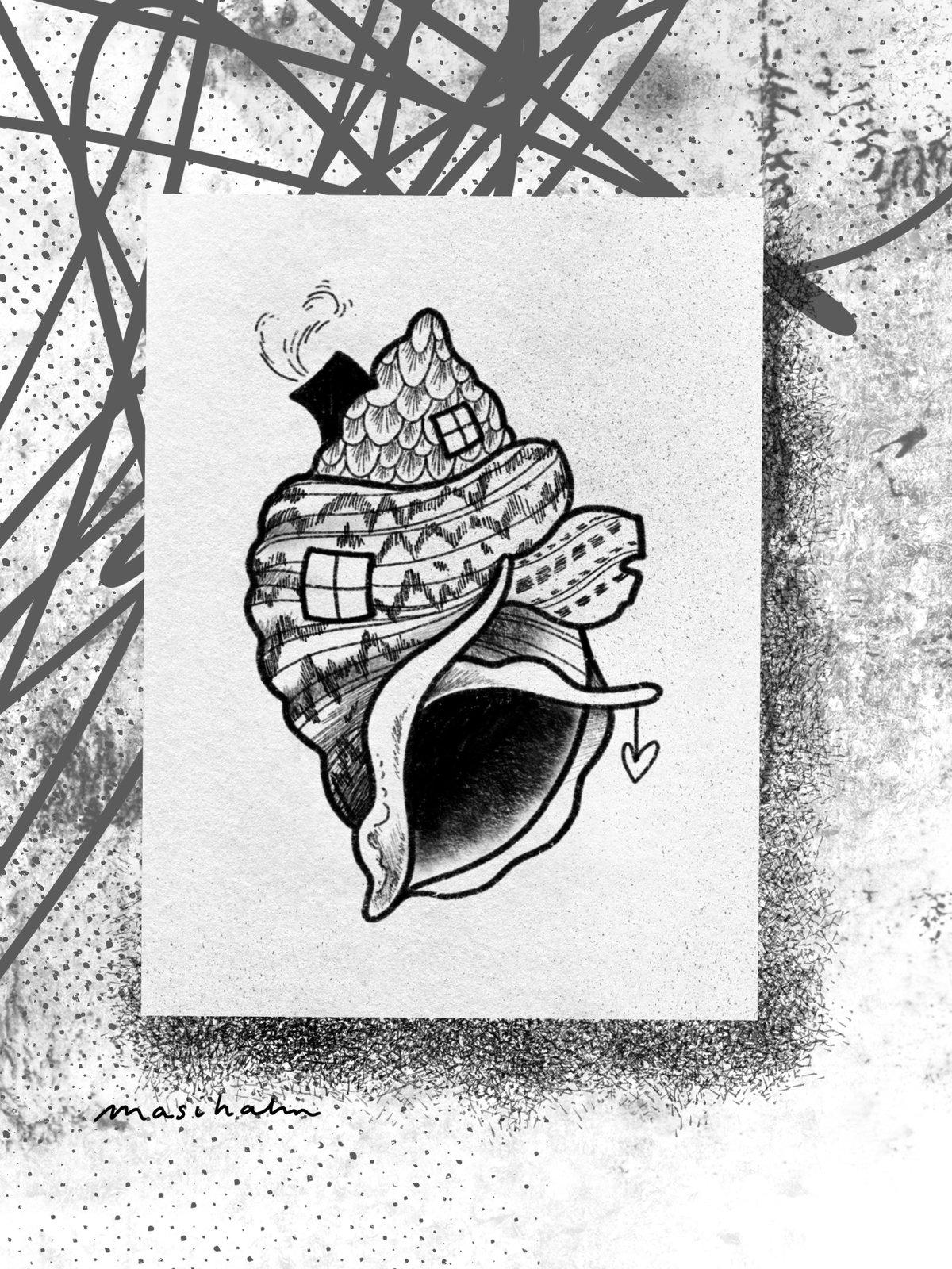 Image of Seashell Print