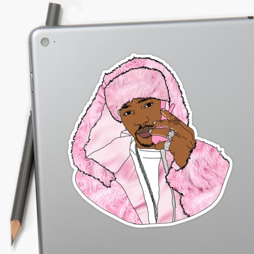 Image of The Man-a Lisa (Stickers)
