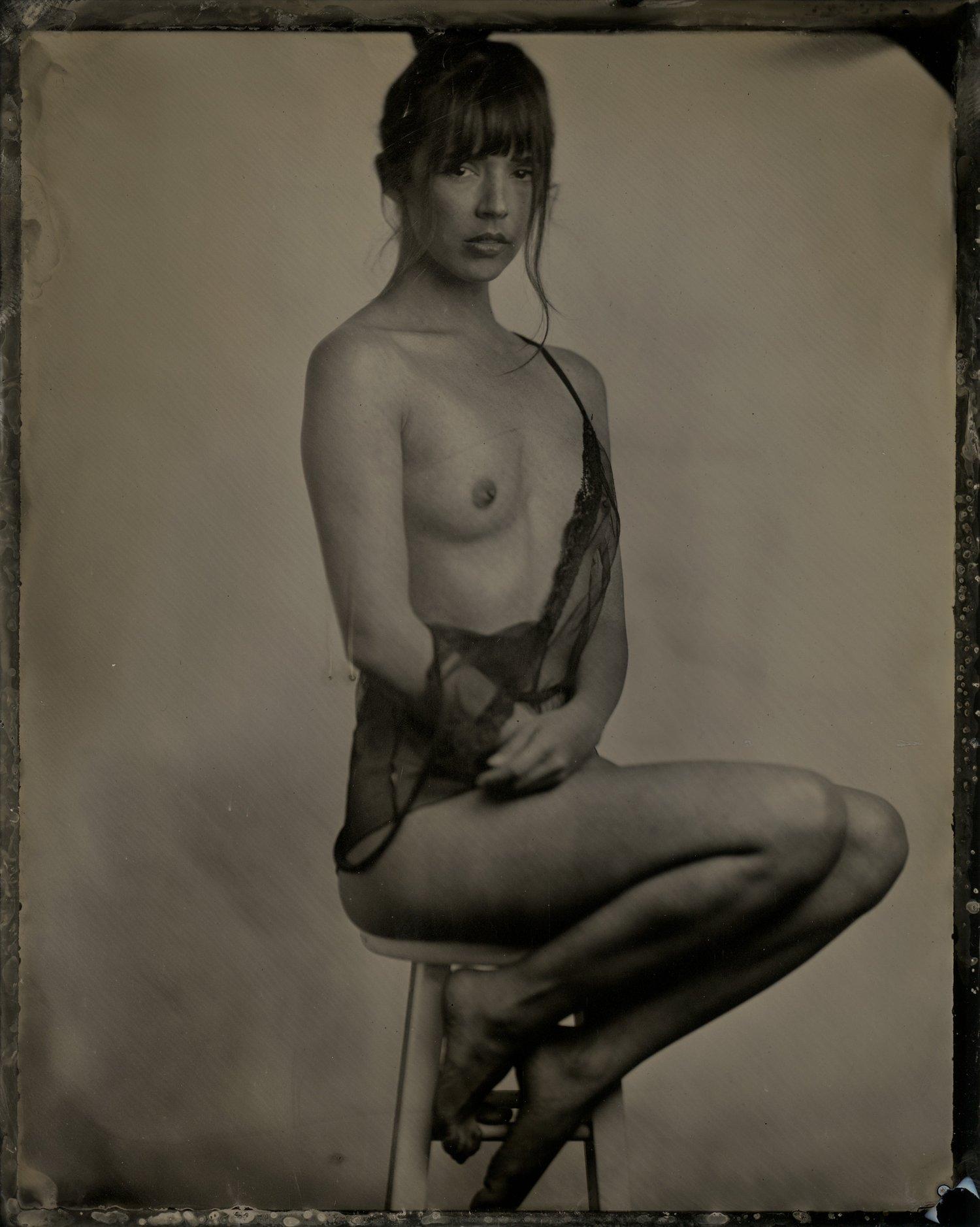 Image of Elizabeth. Tintype, 4x5