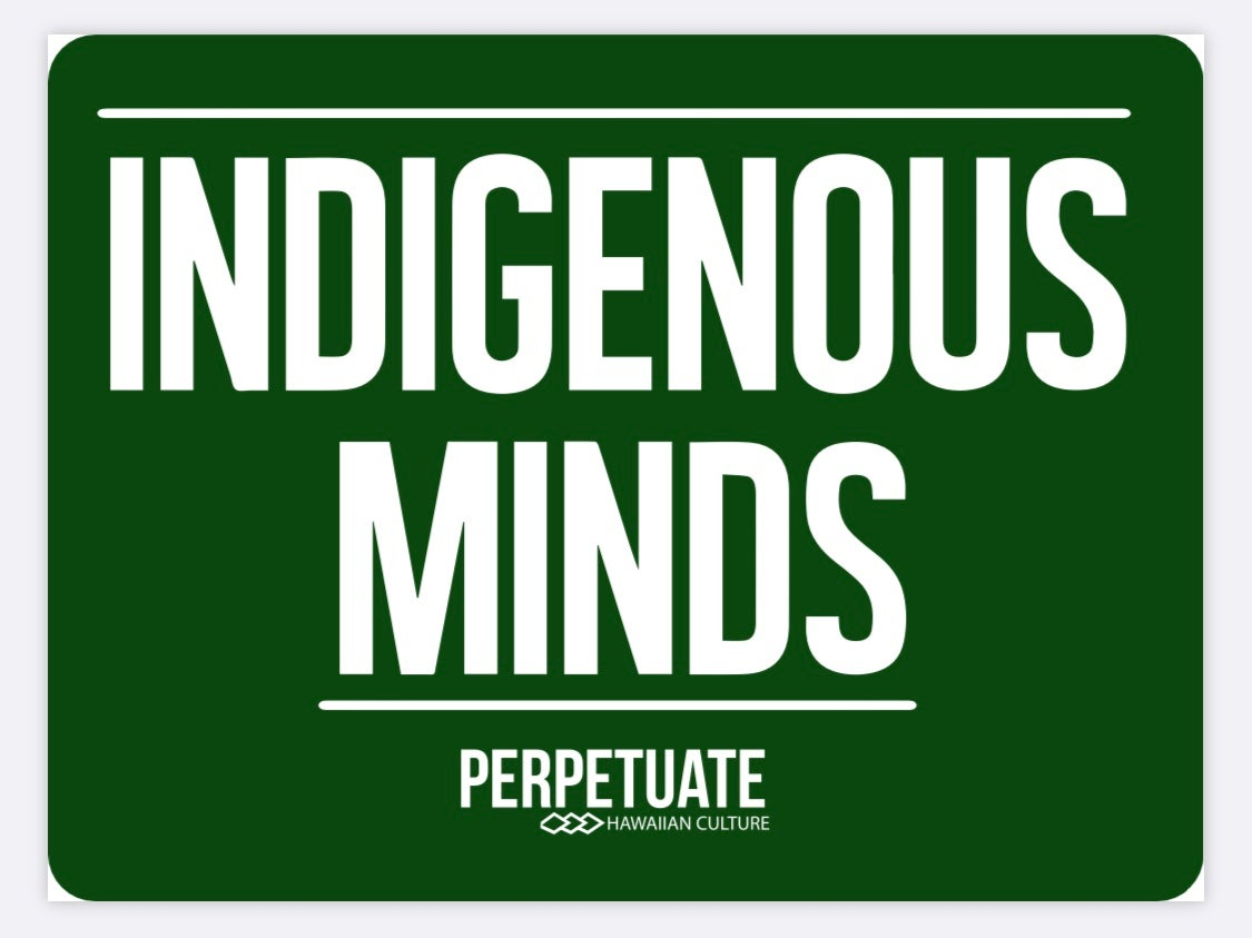 Image of Indigenous Minds Sticker (dark green)