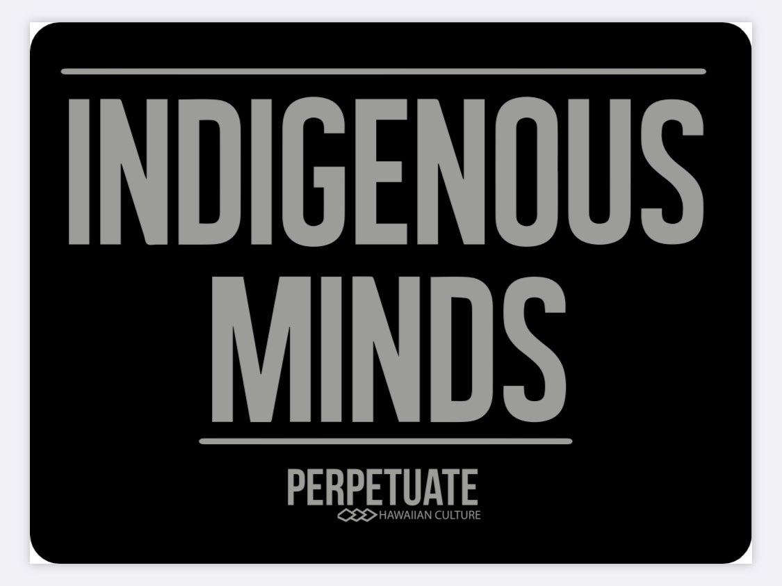 Image of Indigenous Minds Gray Sticker
