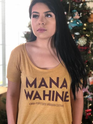 Image of Mana Wahine Women's Shirt (antique gold)