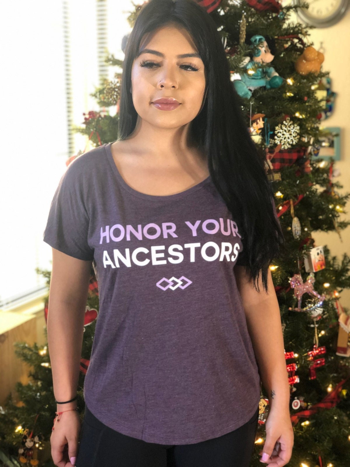 Image of Honor Your Ancestors Women's Shirt (vintage purple)