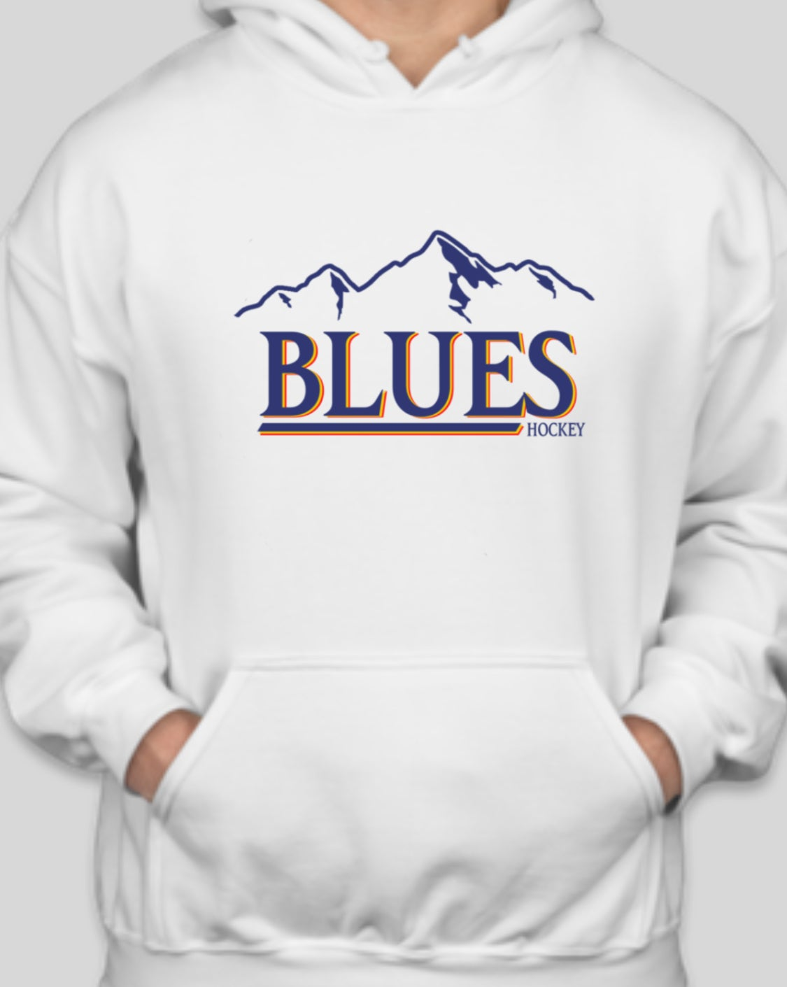 Image of Vintage Blues/Busch Hoodie (White)