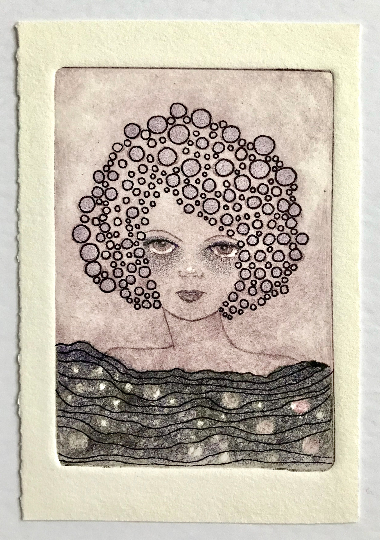 Image of Black Pearls - Letterpress Print / Original Drawing