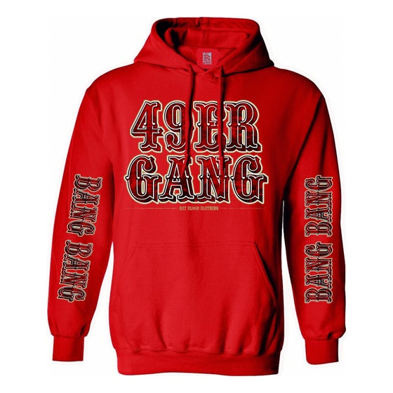 Image of 49ER GANG HOODIE (red on red)