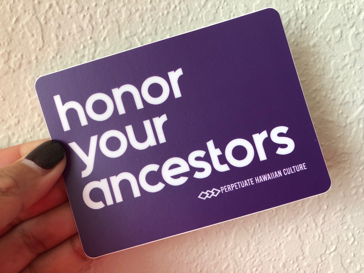 Image of Honor Your Ancestors Sticker (purple)