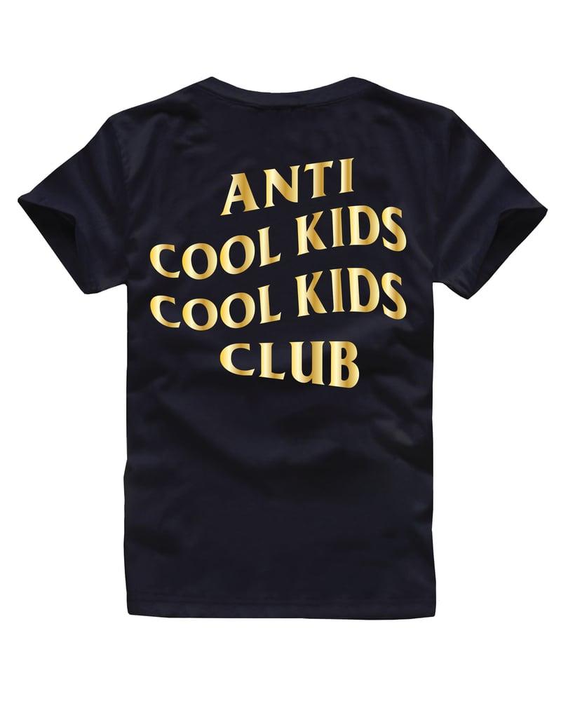 Image of ANTI COOL KIDS TEE GOLD/BLACK
