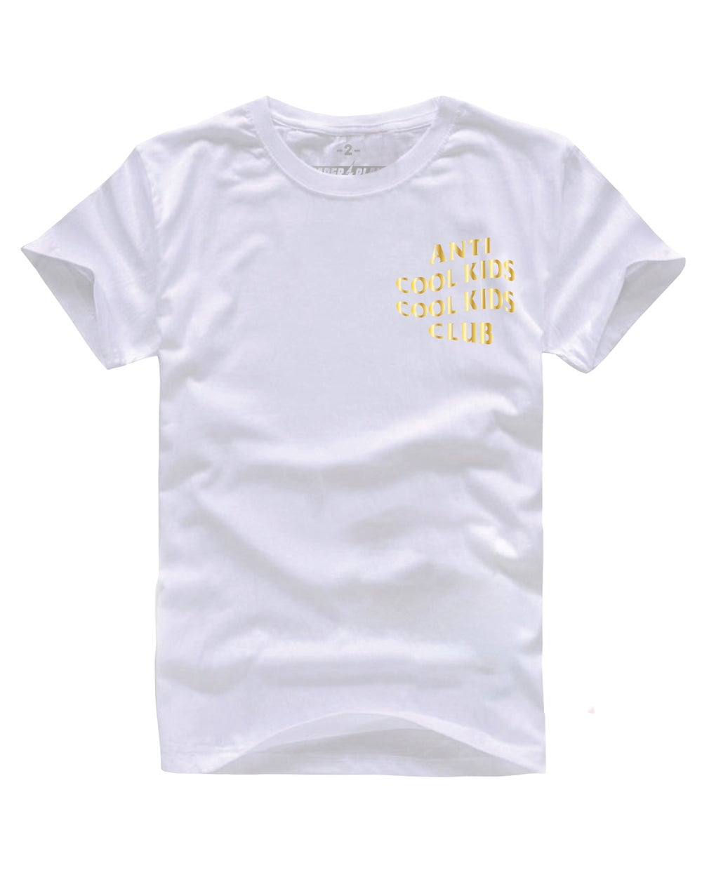 ANTI COOL KIDS TEE GOLD/WHITE