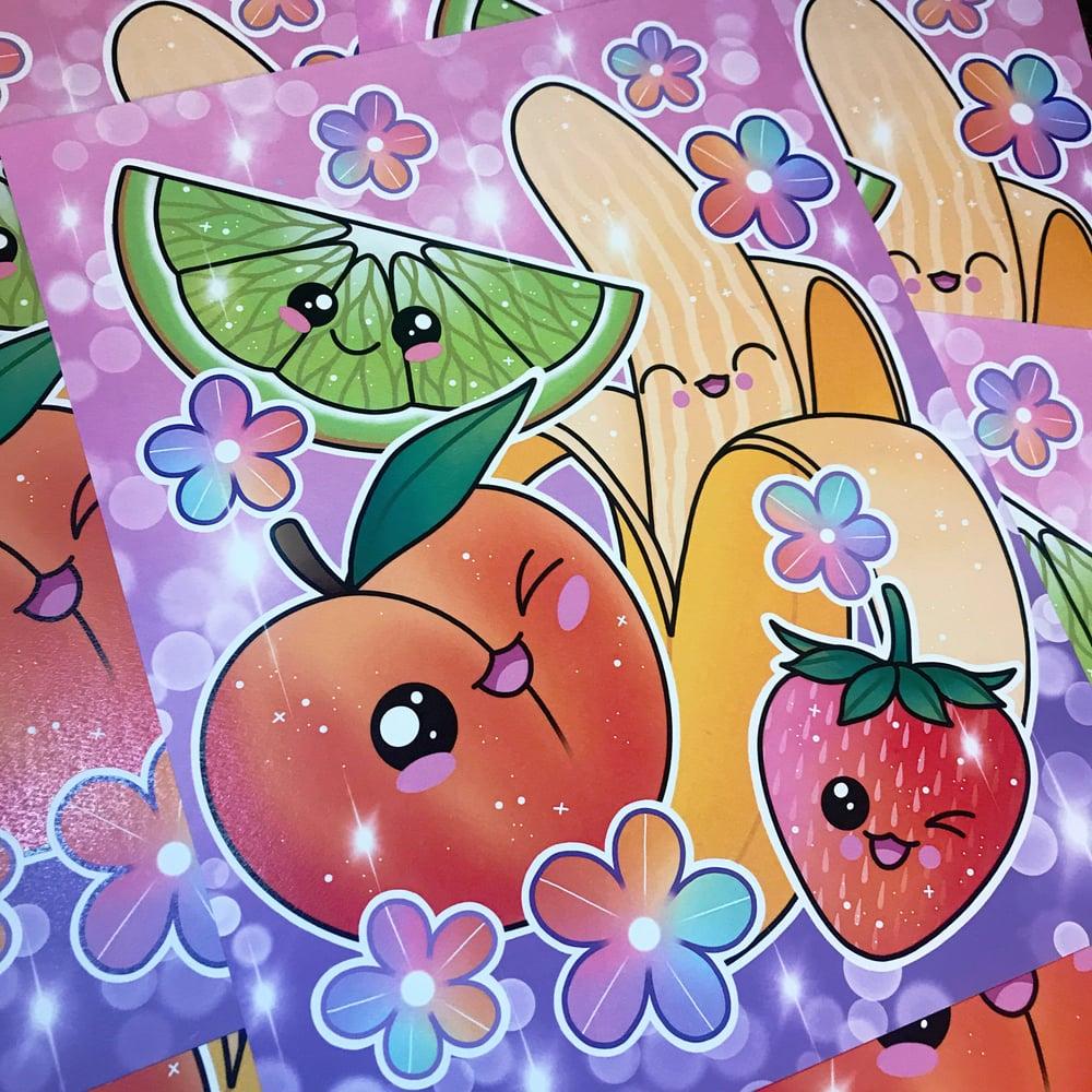 Image of Kawaii Fruit Print
