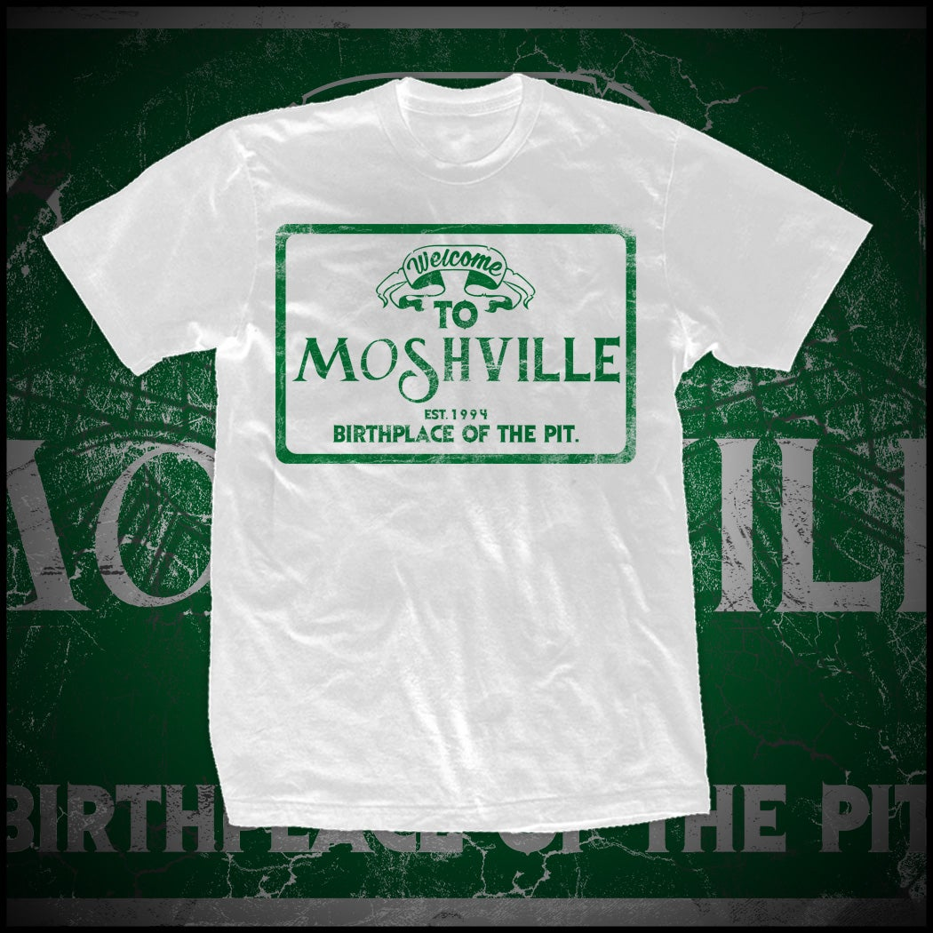 Image of WELCOME TO MOSHVILLE SHIRT (WHITE)
