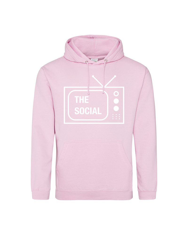 Image of THE SOCIAL HOODIE - PINK (LIMITED EDITION)