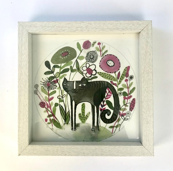Image of Framed Cute cat PRINT