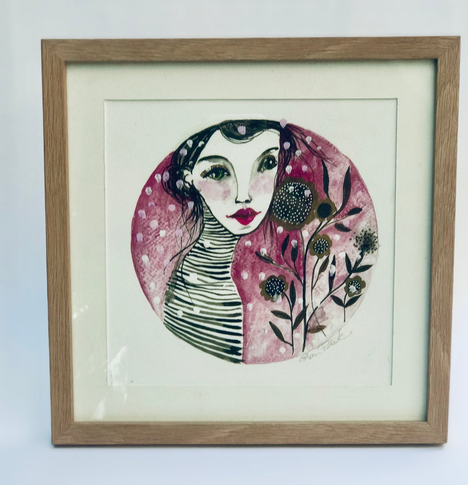 Image of Framed Pink Girl PRINT