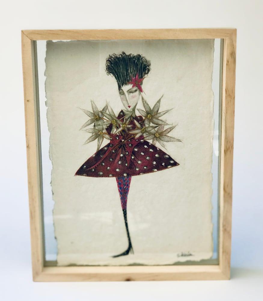 """Image of Framed Print """"Celebration"""" on hand-made paper"""