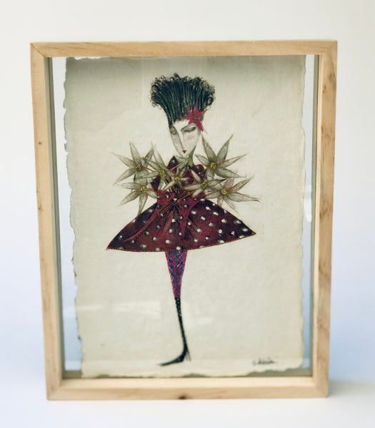 "Image of Framed Print ""Celebration"" on hand-made paper"