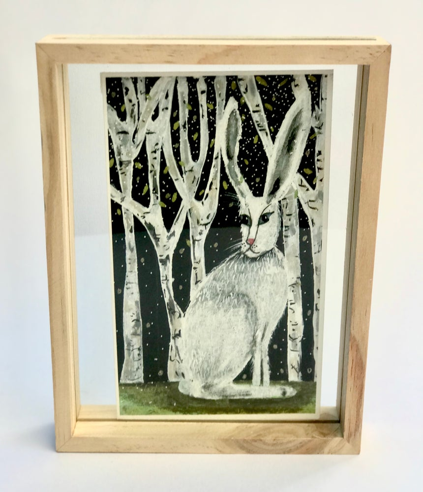 "Image of Framed ""Birch Rabbit"""
