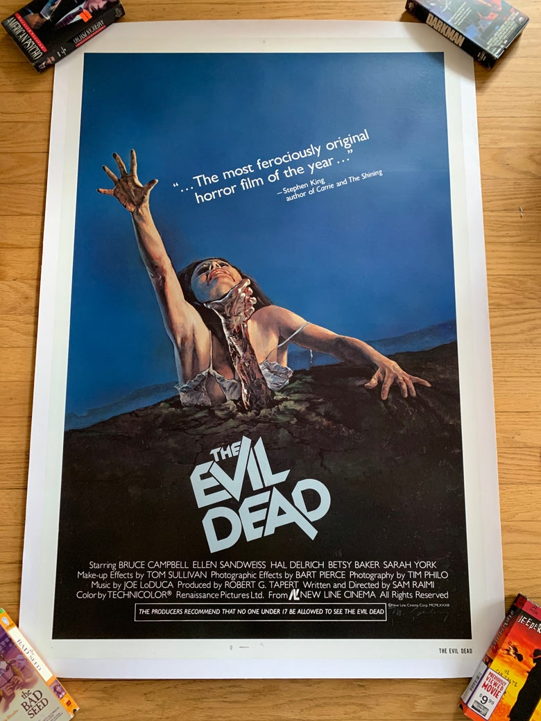 Image of 1981 THE EVIL DEAD Original Linen Backed U.S. One Sheet Movie Poster