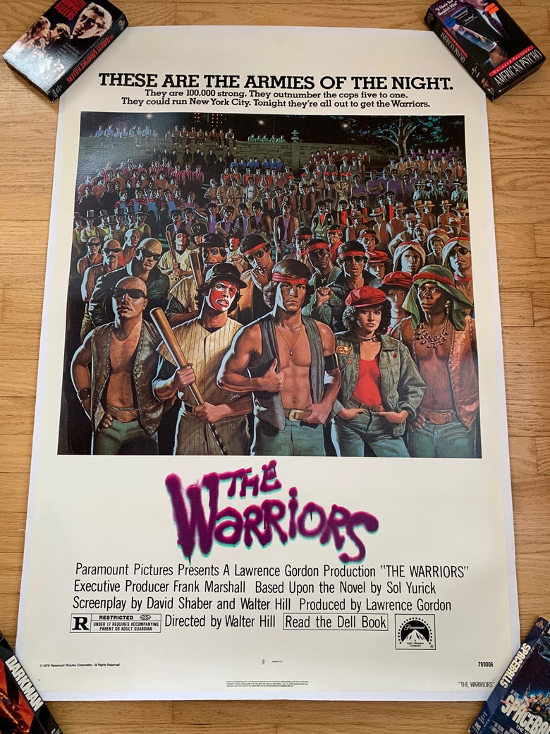 Image of 1979 THE WARRIOR Original Linen Backed U.S. One Sheet Movie Poster