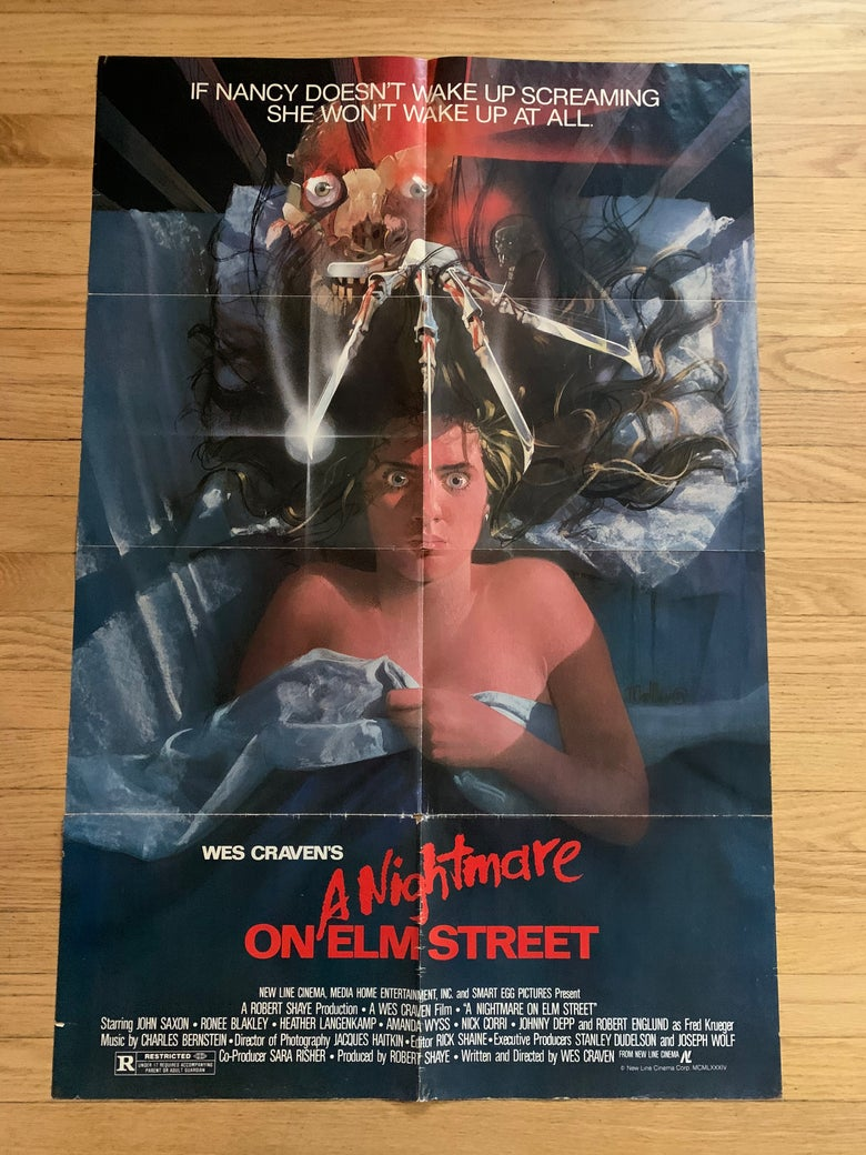 Image of 1984 A NIGHTMARE ON ELM STREET Original U.S. One Sheet Movie Poster