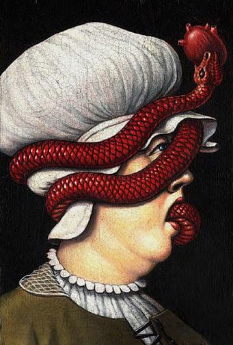 Image of Marc Burckhardt 'Allegory lV' original art