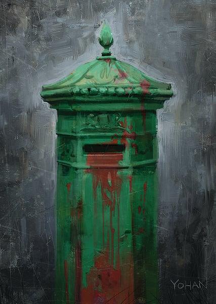 Image of Irish Postbox A4 Print