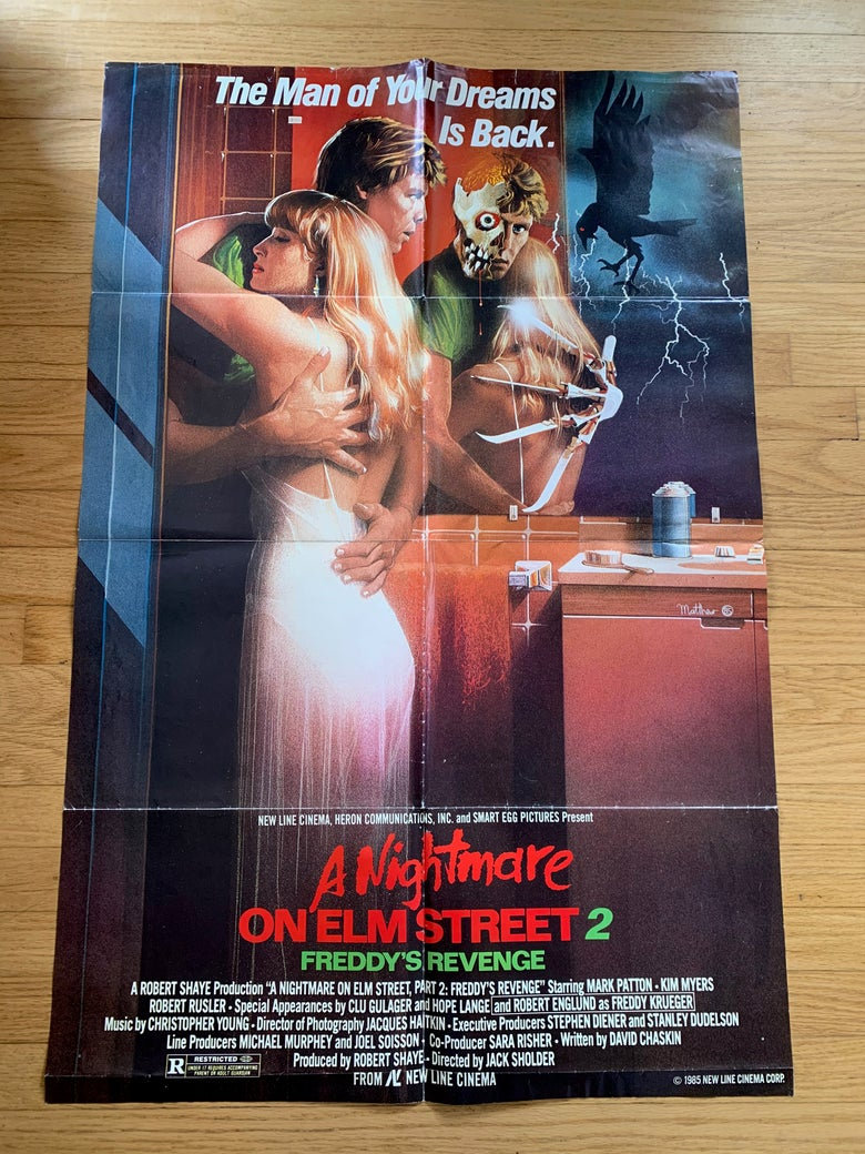 Image of 1985 A NIGHTMARE ON ELM STREET 2  FREDDY'S REVENGE Original U.S. One Sheet Movie Poster