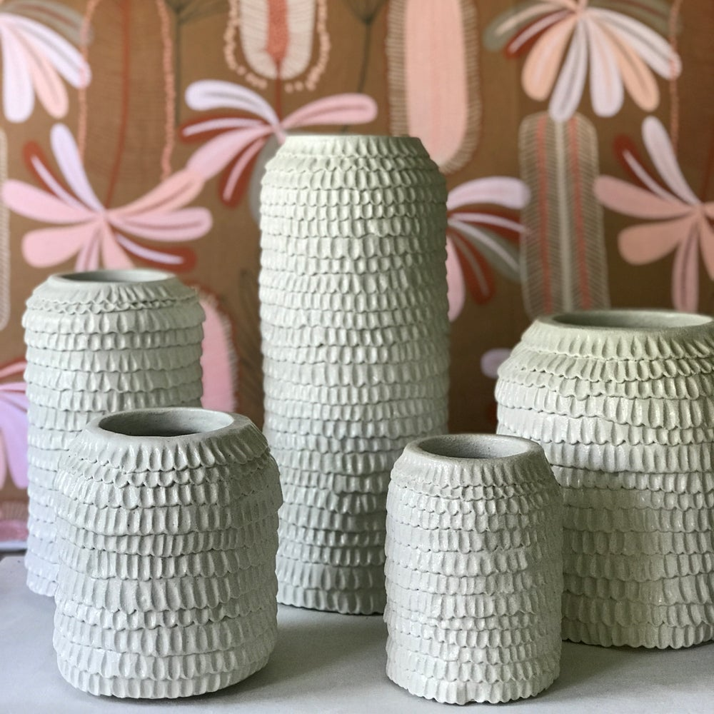 Image of The Frill Vases - White