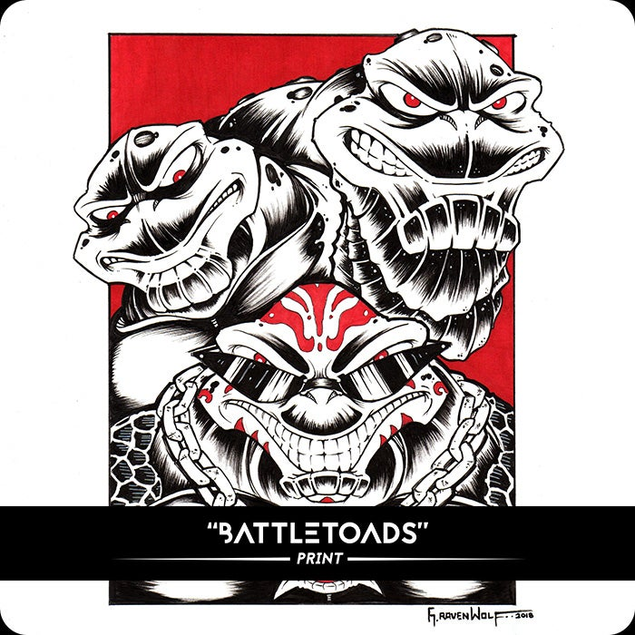 Image of Battletoads - Print