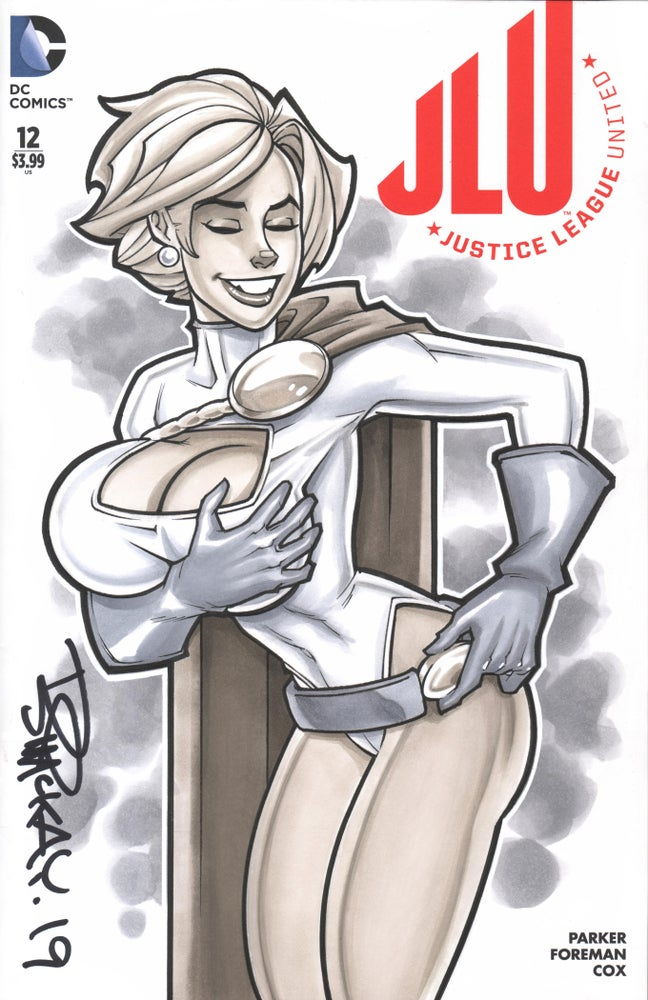 Image of Power Girl Original Copic Marker Sketch