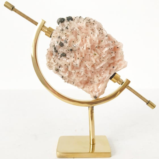 Image of Dolomite no.55 + Brass Arc Stand
