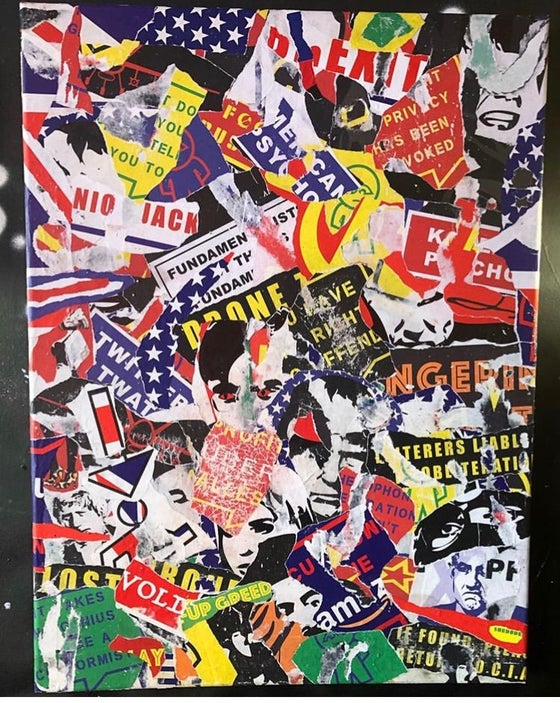 Image of Street-style torn collage