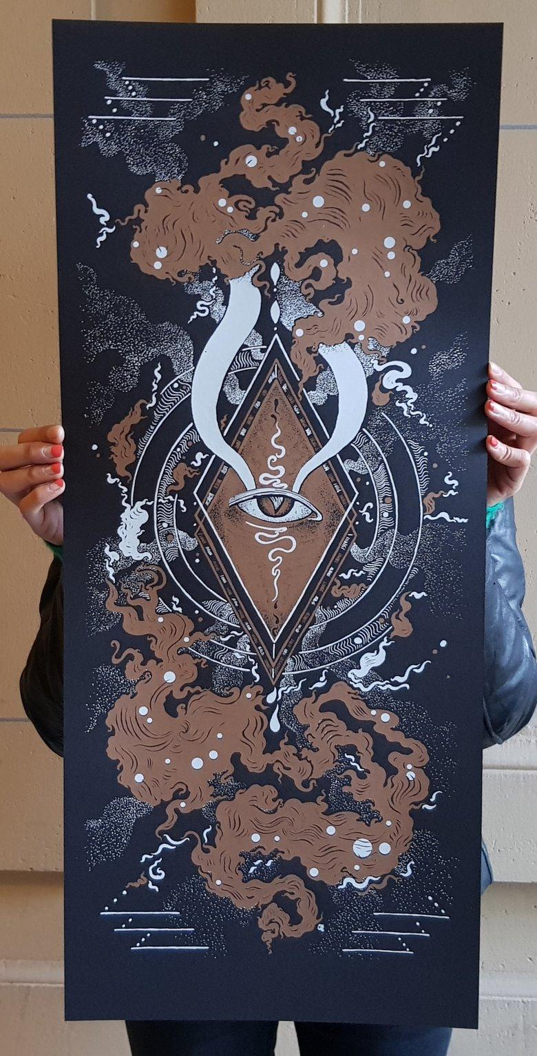 """Image of Art print """"EVIL EYE"""""""