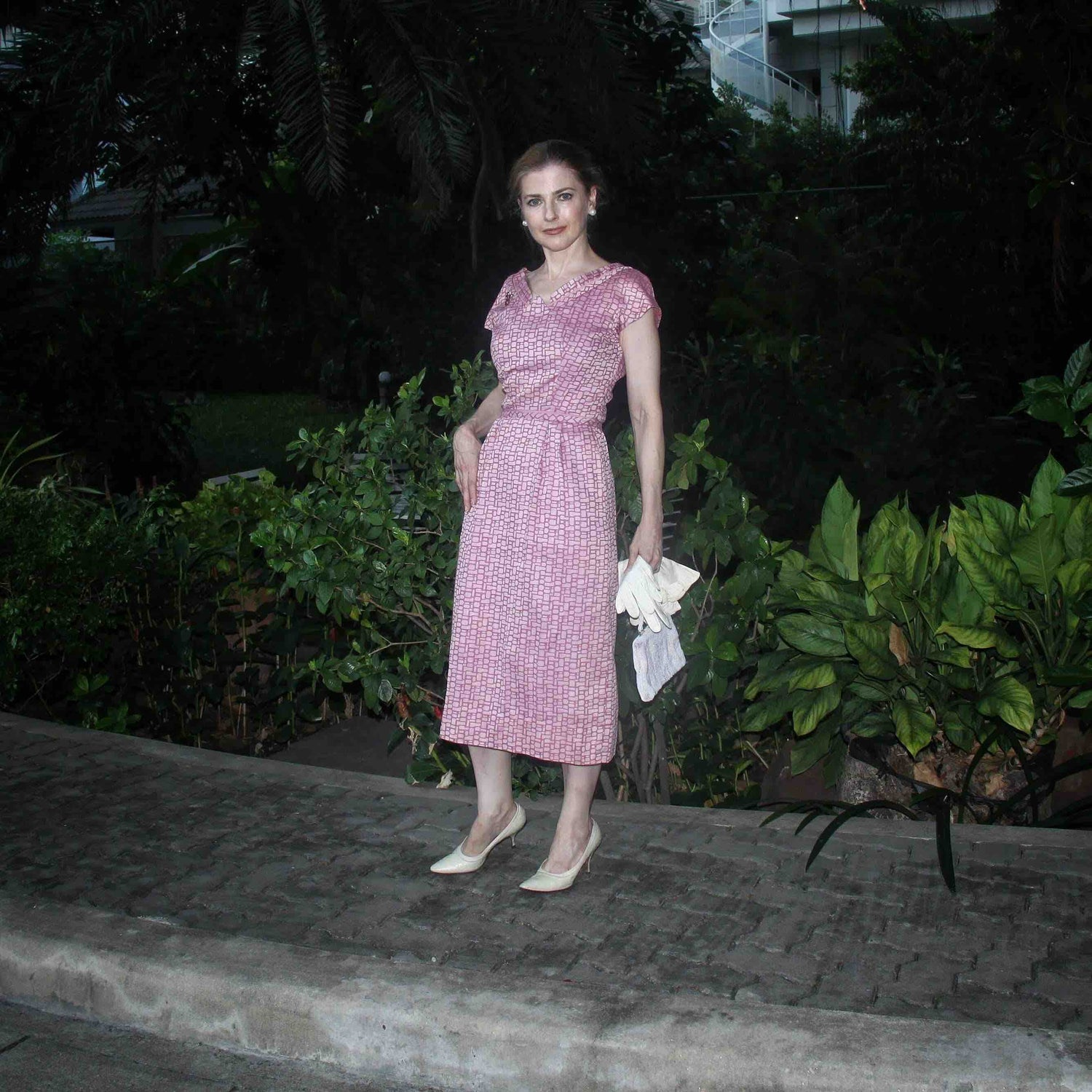 Image of Adele Simpson 1950s Orchid Dress