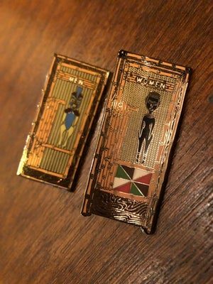 Image of Men and Women ETR Vintage restroom pin set